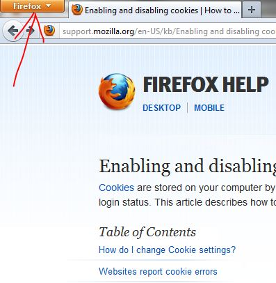 firefox clear cache button